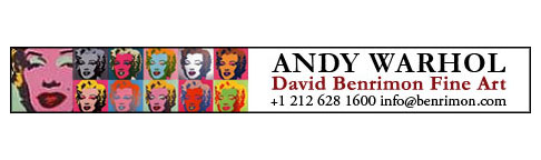 Warhol banner ad design for a Manhattan art gallery.