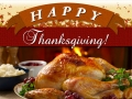 Happy Thanksgiving Newsletter Image, Typography, layers, festive