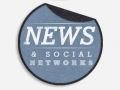 News & Social Networks peeling sticker image for website.