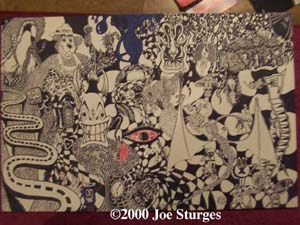 Harper, 2000, Sharpe markers, various sized marker tips, Size: 24 x 36 in.