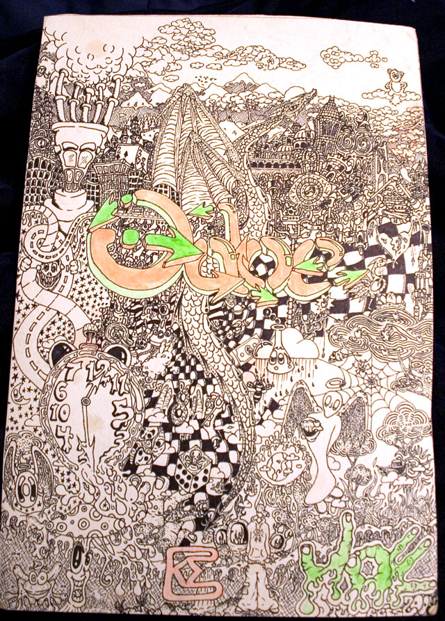 Gabe, 2006, Sharpe markers, various sized marker tips, Highlighters, Size: 11 x 17 in.