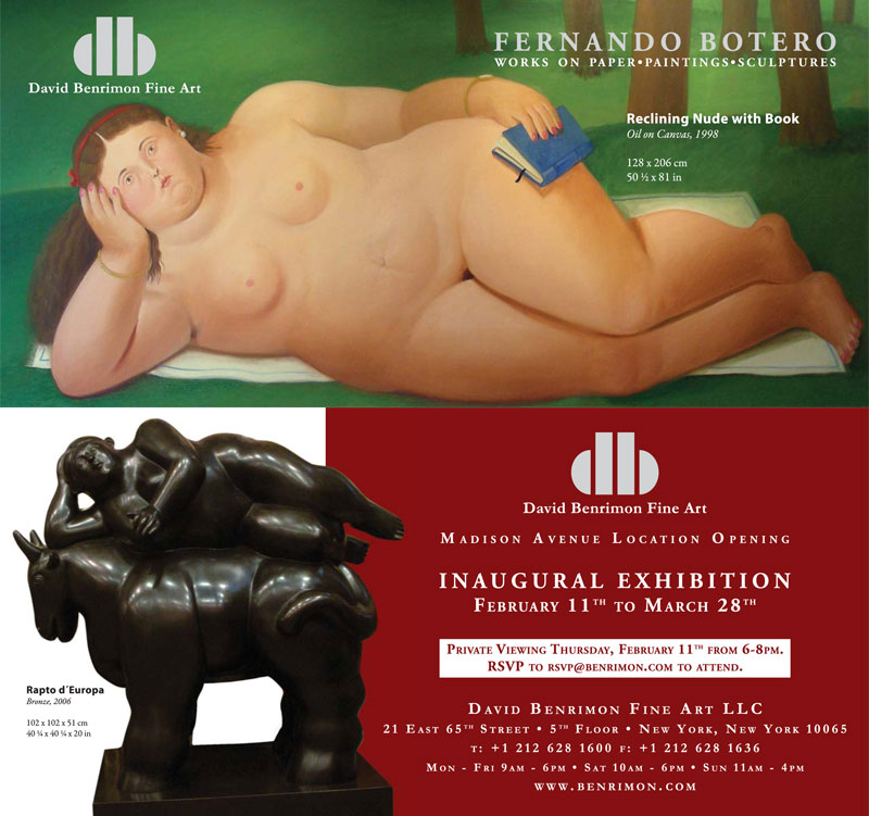 Invitation for an Contemporary Latin American Inaugural Exhibition