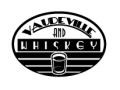Vaudeville and Whiskey Comedy Troupe logo - Art Nouveau typography