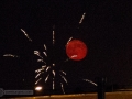 Blood moon and fireworks on the 4th of July.
