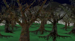 Adobe After Effects 3D layers and tree walk through, motion graphics.