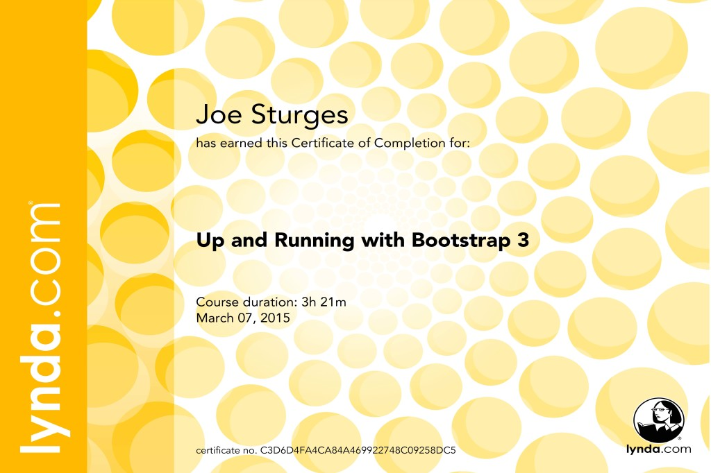 Up and Running with Bootstrap 3 Lynda.com Certification