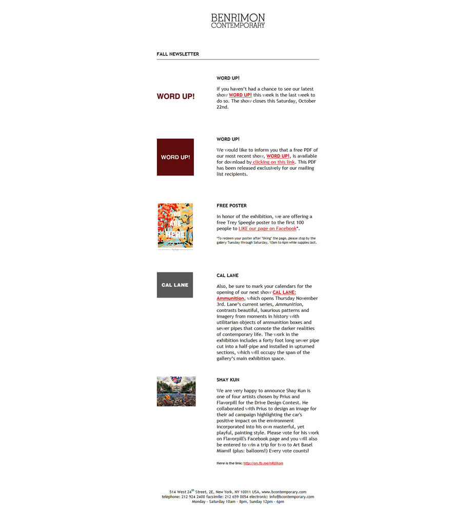 Newsletter :: Email Blasts, Marketing, HTML, CSS, Tables, Outlook, Gmail, Yahoo :: Joesturges.com